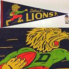 1950s Vintage Detroit Lions Michigan Nfl Football Pennant 11x29