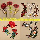 5pcs/set Flower Floral Rose/Clubs Iron/Sew on Embroidered Patch Applique Motif
