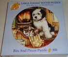 300 PIECE JIGSAW PUZZLE - RESTING BY THE FIRE ( LARGE PIECES )