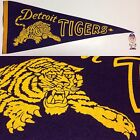 1960s Detroit Tigers Pennant Mlb Baseball Michigan Banner Vintage 115x295