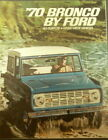 1970 Ford Bronco Sales Brochure Dealer Original Wagon Pickup 4 Wheel Drive 70