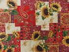 WtW Fabric Sunflower Patch Paisley Flower Springs Country Cheater CP21743 Quilt