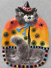 Fitz & Floyd Kitty Witches Halloween Canope Plate i360