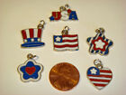 Scrapbooking Enamel Charms All American Theme