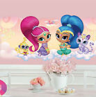 SHIMMER AND SHINE wall sticker MURAL 1 huge decal with glitter Tala Nahal genies