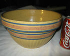 ANTIQUE COUNTRY KITCHEN PRIMITIVE YELLOWARE STONEWARE BATTER MIXING FOOD BOWL