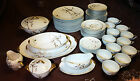 VICTORIAN CHINA Nandin DINNERWARE Service for 12 GOLD RIM 69 piece Vintage JAPAN