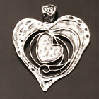 Heart Tibetan Silver Charms Pendants Crafts Jewelry Findings DIY Fit Necklace