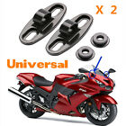 Motorcycle 2pcs Black Aluminum Rearview Mirror w/Fairing Adapters Holder Mount