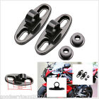 2 X Black CNC Aluminum Motorbike Bicycle Rearview Mirror Fairing Adapters Holder