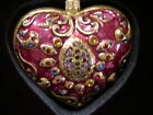 BRAND NEW+BOX Jay Strongwater Heart Ornament with Swarovski Crystals-Great GIFT!