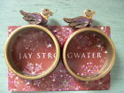 PAIR (2) NEW/NEVER USED Signed Jay Strongwater BIRD Napkin Rings w/ Swarovskis