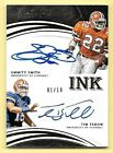 2016 Immaculate Ink #10 Emmitt Smith & Tim Tebow Dual Autograph Card #01 10