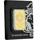 SPECIAL PRICE 1 oz 9999 Gold Bar by Scottsdale Mint in Certi LOCK COA A389