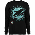 5th  Ocean by New Era Miami Dolphins Womens Black Athletic Fleece Sweater