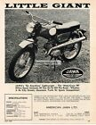 1968 Jawa Moto Cross 90 Motorcycle Little Giant Vtg Print Ad