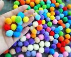 300Pcs DIY Pom Pom Soft Fluffy Balls Felt Card Embellishments Kids Pompoms
