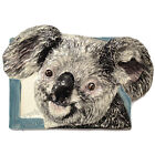 Koala Bear Tile Sculpture Ceramic tile handmade wall hang Sondra Alexander Art