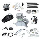 50cc 2 Stroke Single Cylinder Gas Motorized Bike Engine Kit Bicycle Motor Silver