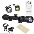 3 9x40 Tactical Air Gun Rifle Scope Hunting Sniper Sight 11mm Mounts lens cover