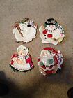 FITZ AND FLOYD 2000 4 ''PLAID CHRISTMAS''   COOKIE CANAPE PLATE or  WALL