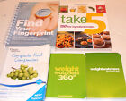 Weight Watchers Complete Food Companion 360 Pocketguides Take 5 Cookbook LOT 5
