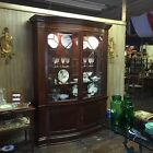 HISTORIC CHARELSTON COLL BAKER BOW FRONT MAHOGANY CABINET HUTCH 88