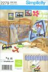 Pattern Simplicity Sewing Home Decor Baby Room Daisy Kingdom Quilt Sheet Bumper
