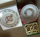 LOT of Vintage AVON Second Anniversary PLATE BOWL TRIVET Presidents Club