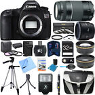Canon EOS 5DS R 506MP Digital SLR Camera w 50mm + 75 300mm Lens Super Bundle