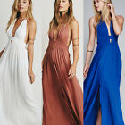 Wedding Anniversary Engagement Halter Evening Formal Gown Prom Party Maxi Dress