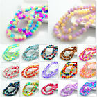 Beautiful 80pcs Rondelle Faceted Crystal Glass Loose Spacer Beads 8mm 248color