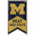 Michigan Wolverines Beat Ohio State Rivalry Banner Pin College