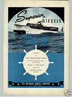 1937 PAPER AD Superior Diesels Motor Boat Yacht National Supply Co Delaware Art