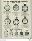 1905 PAPER AD Swiss Pocket Watch Chronograph C L Guinand Nurses Repeater Timer