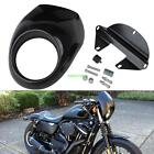 Headlight Fairing Front Cowl Mask Cafe Racer Harley Sportster Dyna Glide FX XL