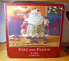 NEW IN BOX FITZ AND FLOYD SANTA ST ST. NICK COOKIE JAR CHRISTMAS 11
