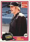 1981 Topps Coke Tigers #11 Kirk Gibson  TIGERS S38308