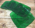 Forest Green Glass Charm Anchor Hocking 1950's 4 Luncheon Plates Square MCM 782