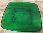Fire King Forest Green Glass Charm Anchor Hocking 1950s 1 Salad Plate Square MCM