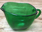 Fire King Forest Green Glass Charm Anchor Hocking 1950s Flat Creamer Square MCM