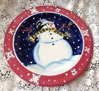 Tracy Flickinger SNOWMAN PLATE Mesa International 8 1/2