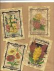 LOT OF~12 Vintage look LABELS~FLOWER SEED LABELS ~primitive labels ~YELLOW