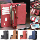 Leather Removable Wallet Magnetic Flip Card Case Cover For iPhone 8 7 6 6S Plus