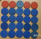 25 WW2 Office of Price Administration OPA Red  Blue Point Ration Tokens