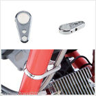 Silver Chrome Alloy Motorcycle Brake Clutch Cable Wire Clamp Clip For 1