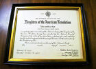 1967 Antique Daughters of the American Revolution Certificate C Smith