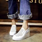 Chic Womens Hollow Out Breathable Casual Fashion Sneakers Slip On Loafers Shoes