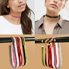 7Pcs Set Mixed Color Retro Velvet Choker Collar Necklace Punk Gothic Jewelry NEW