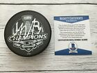 Tyler Toffoli Signed 2014 LA Kings Stanley Cup Hockey Puck Beckett BAS COA a